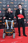 Pablo Echenique and Pablo Iglesias attends red carpet of Goya Cinema Awards 2018 at Madrid Marriott Auditorium in Madrid , Spain. February 03, 2018. (ALTERPHOTOS/Borja B.Hojas)