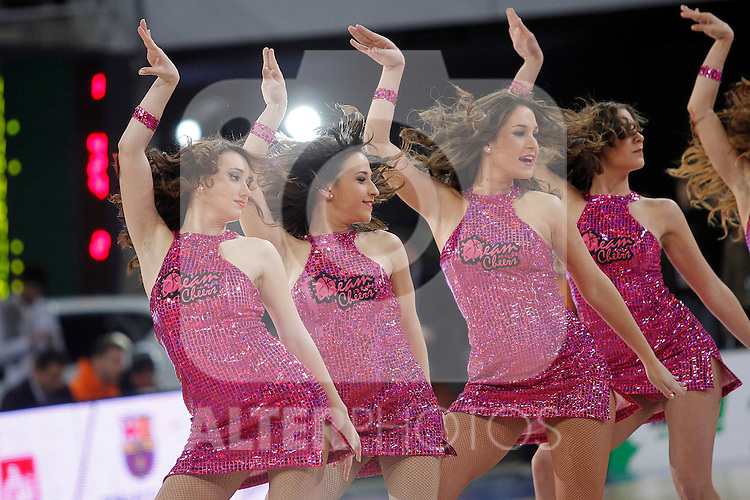 ACB's Cheerleaders during Spanish Basketball King's Cup match.February 07,2013. (ALTERPHOTOS/Acero)