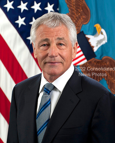 "Charles Timothy ""Chuck"" Hagel became the 24th United States Secretary of Defense on February 27, 2013.  He is the first enlisted combat veteran to lead the Department of Defense.  Secretary Hagel was elected to the United States Senate in 1996 and represented Nebraska until 2009.  As a member of the Senate, he was a senior member of the U.S. Senate Committee on Foreign Relations;  the U.S. Senate Committee on Banking, Housing and Urban Affairs; and the U.S. Senate Committee on Intelligence.  <br /> Credit: Department of Defense via CNP"