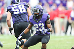 TCU Horned Frogs running back B.J. Catalon (23) in action during the game between the SMU Mustangs and the TCU Horned Frogs at the Amon G. Carter Stadium in Fort Worth, Texas. TCU defeats SMU 48 to 17.