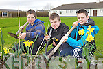 GOING GREEN: Planting trees on the school grounds at Douglas national school, Killorglin to mark National Tree Week, l-r: Keelan Griffin, Adam Prendergast, David Purcell.