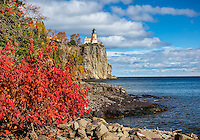 Split Rock Lighthouse SP, Minnesota: Split Rock Lighthouse stands above Lake Superior in fall