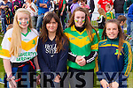 Pictured at the St Brendan's v Kilmoyley County Senior Hurling final on Sunday were l-r: Saoirse Sheehan, Fiona Kerdzaia, Aoife Godley and Brid Horan.