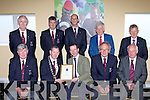 Killarney Town Council held a civic reception for Gold cup winning trainer Jim Culloty in Killarney racecourse on Sunday l-r: Cllr Sean Counihan, Paddy Courtney Killarney Mayor, Jim Culloty, Cllr Michael Gleeson, Tom O'Leary Town Clerk. Back row: Cllr Cathal Walshe, Cllr John o'Donoghue, John Breen, Cllr Sean Grady and Cllr Donal O'Grady
