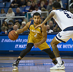 California Baptist guard Marquise Mosley (2) looks to drive against Nevada in the second half of an NCAA college basketball game in Reno, Nev., Monday, Nov. 19, 2018. (AP Photo/Tom R. Smedes)