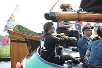 ZEILSPORT: DE VEENHOOP: 07-08-2017, SKS Skûtsjesilen, schipper Douwe Jzn. Visser skûtsje Sneek, ©foto Martin de Jong