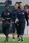 25 August 2007: Briana Scurry, Nicole Barnhart, Hope Solo. The United States Women's National Team defeated the Women's National Team of Finland 4-0 at the Home Depot Center in Carson, California in an International Friendly soccer match.