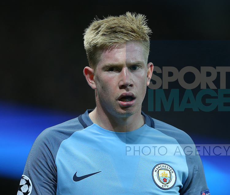 Kevin De Bruyne of Manchester City during the Champions League Group C match at the Etihad Stadium, Manchester. Picture date: November 1st, 2016. Pic Simon Bellis/Sportimage