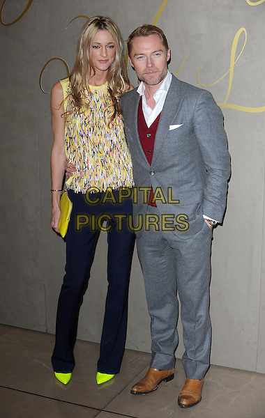 LONDON, ENGLAND - NOVEMBER 3: Storm Uechtritz and Ronan Keating attend the Burberry Festive Film Premiere at Burberry Regent Street on November 3, 2015 in London, England.<br /> CAP/BEL<br /> &copy;BEL/Capital Pictures