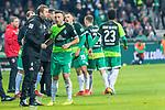 10.02.2019, Weser Stadion, Bremen, GER, 1.FBL, Werder Bremen vs FC Augsburg, <br /> <br /> DFL REGULATIONS PROHIBIT ANY USE OF PHOTOGRAPHS AS IMAGE SEQUENCES AND/OR QUASI-VIDEO.<br /> <br />  im Bild<br /> <br /> Florian Kohfeldt (Trainer SV Werder Bremen)<br /> Kevin M&ouml;hwald / Moehwald (Werder Bremen #06)<br /> <br /> Foto &copy; nordphoto / Kokenge