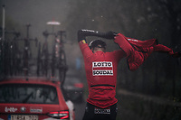 Tim Wellens (BEL/Lotto-Soudal) getting a rainjacket on<br /> <br /> Trofeo Lloseta - Andratx: 140km<br /> 27th Challenge Ciclista Mallorca