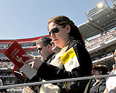 Washington, DC - April 17, 2008 -- Therese Reardon of Arlington, VA sings along as Pope Benedict XVI celebrates Mass at the new Nationals Park in Washington, D.C. on Thursday, April 17, 2008. This is the first non-baseball event in the park, which opened March 31..Credit: Ron Sachs / CNP.(RESTRICTION: NO New York or New Jersey Newspapers or newspapers within a 75 mile radius of New York City)