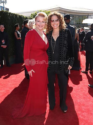 PASADENA, CA - April 30: Judi Evans, Meredith Scott Lynn, At 44th Annual Daytime Emmy Awards Roaming At The Pasadena Civic Auditorium In California on April 30, 2017. Credit: FS/MediaPunch