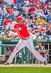 21 June 2015: Washington Nationals outfielder Michael Taylor at bat against the Pittsburgh Pirates in the 9th inning at Nationals Park in Washington, DC. The Nationals defeated the Pirates 9-2 to sweep their 3-game weekend series, and improve their record to 37-33. Mandatory Credit: Ed Wolfstein Photo *** RAW (NEF) Image File Available ***