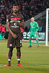 08.02.2019, RheinEnergieStadion, Koeln, GER, 2. FBL, 1.FC Koeln vs. FC St. Pauli,<br />  <br /> DFL regulations prohibit any use of photographs as image sequences and/or quasi-video<br /> <br /> im Bild / picture shows: <br /> als einziger in der Mauer Jeremy Dudziak (St Pauli #8), <br /> <br /> Foto © nordphoto / Meuter