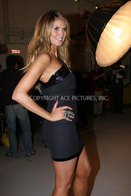 WWW.ACEPIXS.COM . . . . .  ....November 19 2009, New York City....Model Heidi Klum backstage at the Victoria's Secret fashion show at The Armory on November 19, 2009 in New York City....Please byline: NANCY RIVERA- ACEPIXS.COM.... *** ***..Ace Pictures, Inc:  ..Tel: 646 769 0430..e-mail: info@acepixs.com..web: http://www.acepixs.com