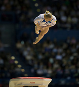 22nd March 2018, Arena Birmingham, Birmingham, England; Gymnastics World Cup, day two, womens competition; Angelina Melnikova (RUS) on the Vault during her competition routine