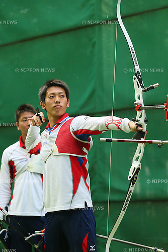 Ayumi Iwata (JPN), <br /> JULY 18, 2015 - Archery : <br /> Japan National Team Training <br /> for The World Archery Championships 2015 <br /> at JISS Archery Field, Tokyo, Japan. <br /> (Photo by YUTAKA/AFLO SPORT)