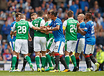 Bruno Alves tries to pull Anthony Stokes away ftom Ryan Jack