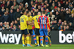 Arsenal's Pierre-Emerick Aubameyang is shown a red card after it is upgraded from yellow card by VAR during the Premier League match at Selhurst Park, London. Picture date: 11th January 2020. Picture credit should read: Paul Terry/Sportimage