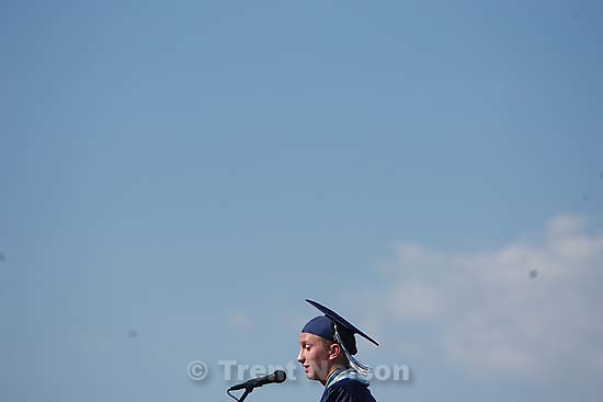 Salem - Salem High School's first ever graduation ceremony, Wednesday May 27, 2009.wayte davis, senior class president