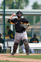 Pittsburgh Pirates Jin-De Jhang (35) during an instructional league intrasquad black and gold game on September 23, 2015 at Pirate City in Bradenton, Florida.  (Mike Janes/Four Seam Images)