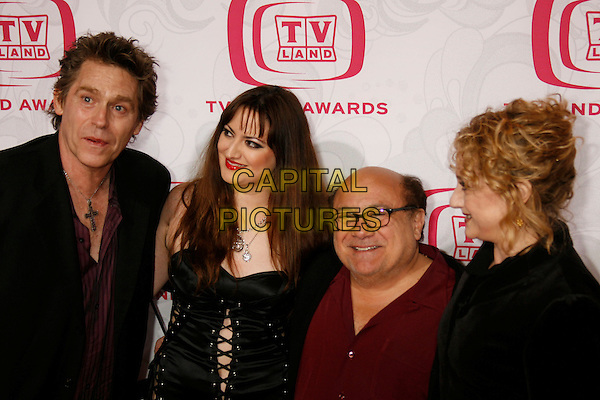 DANNY DEVITO, CAROL KANE, JUDD HIRSCH & JEFFREY CONAWAY.Attending the 5th Annual TV Land Awards - Arrivals,.held at Barker Hangar, Santa Monica, California, .USA, 14 April, 2007..half length .CAP/ADM/RE.©Russ Elliot/AdMedia/Capital Pictures.