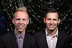 Justin Paul and Benj Pasek attends the 2017 Tony Awards Meet The Nominees Press Junket at the Sofitel Hotel on May 3, 2017 in New York City.