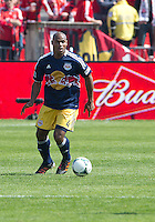 April 27, 2013: New York Red Bulls defender Jamison Olave #4 in action during a game between Toronto FC and the New York Red Bulls at BMO Field  in Toronto, Ontario Canada..The New York Red Bulls won 2-1.