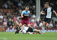 West Ham United's Jack Wilshere gets in between Fulham's Kevin McDonald and Tom Cairney<br /> <br /> Photographer Rob Newell/CameraSport<br /> <br /> Football Pre-Season Friendly - Fulham v West Ham United - Saturday July 27th 2019 - Craven Cottage - London<br /> <br /> World Copyright © 2019 CameraSport. All rights reserved. 43 Linden Ave. Countesthorpe. Leicester. England. LE8 5PG - Tel: +44 (0) 116 277 4147 - admin@camerasport.com - www.camerasport.com
