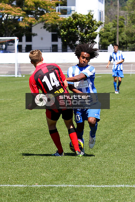 Nelson Falcons v Canterbury United, ASB Youth League, 06 February 2014, Trafalgar Park , Nelson, New Zealand<br /> Photo: Marc Palmano/shuttersport.co.nz