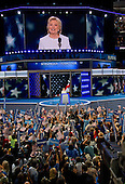 Hillary Clinton, the Democratic Party nominee for President of the United States, delivers her acceptance speech during the fourth session of the 2016 Democratic National Convention at the Wells Fargo Center in Philadelphia, Pennsylvania on Thursday, July 28, 2016.<br /> Credit: Ron Sachs / CNP<br /> (RESTRICTION: NO New York or New Jersey Newspapers or newspapers within a 75 mile radius of New York City)
