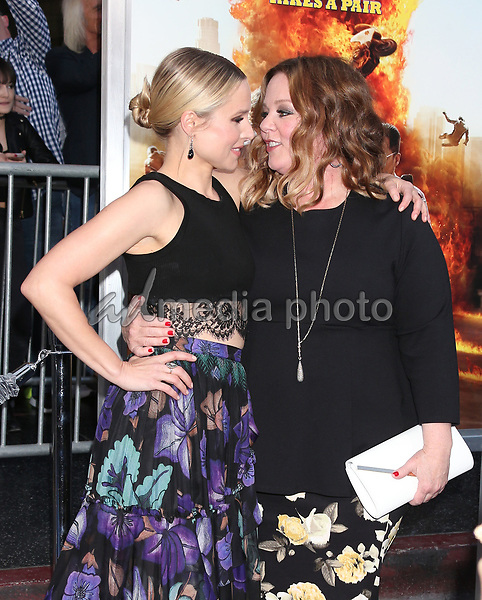 """20 March 2017 - Hollywood, California - Kristen Bell, Melissa McCarthy. """"CHiPS"""" Los Angeles Premiere held at TCL Chinese Theatre. Photo Credit: Russ Elliot/AdMedia"""