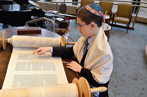 Kol Ami Bar Mitzvah.Jake on the beema with the torah