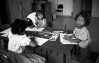 Roma,1994.Centro estivo per bambini Rom.Rome.Summer camp for Roma children