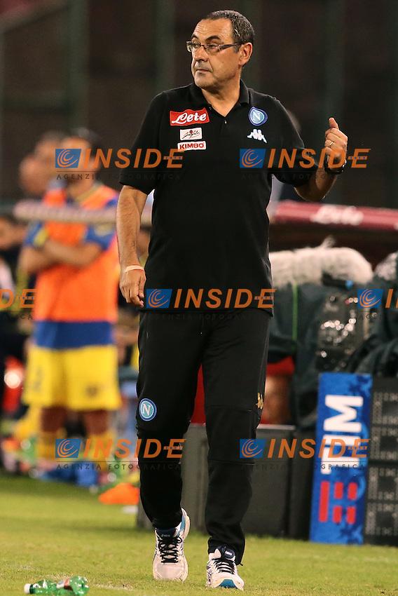 Maurizio Sarri Napoli, <br /> Napoli 24-09-2016 Stadio San Paolo<br /> Football Calcio Serie A 2016/2017 Napoli - Chievo<br /> Foto Cesare Purini / Insidefoto