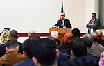 Palestinian Prime Minister Rami Hamdallah, attends the opening of the Emergency and Safe Birth Center at Birnbala in Jerusalem, on February 14, 2019. Photo by Prime Minister Office