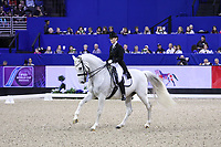 OMAHA, NEBRASKA - MAR 30: Mai Tofte Olesen rides Rustique during the FEI World Cup Dressage Final II at the CenturyLink Center on April 1, 2017 in Omaha, Nebraska. (Photo by Taylor Pence/Eclipse Sportswire/Getty Images)