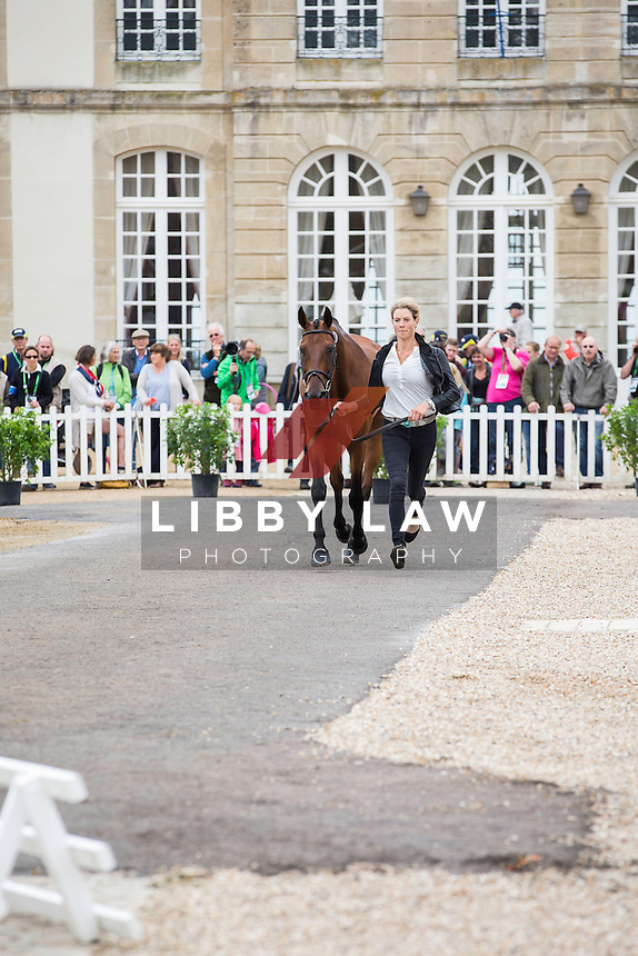NZL-Lucy Jackson (WILLY DO) FIRST HORSE INSPECTION: EVENTING: The Alltech FEI World Equestrian Games 2014 In Normandy - France (Wednesday 27 August) CREDIT: Libby Law COPYRIGHT: LIBBY LAW PHOTOGRAPHY - NZL