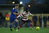 Dan Hector of Kingstonian comes under pressure during Kingstonian vs Lewes, BetVictor League Premier Division Football at King George's Field on 16th November 2019