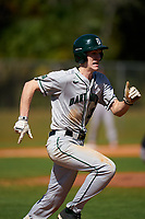 Dartmouth Big Green Connor Bertsch (23) runs to first base during a game against the Omaha Mavericks on February 23, 2020 at North Charlotte Regional Park in Port Charlotte, Florida.  Dartmouth defeated Omaha 8-1.  (Mike Janes/Four Seam Images)