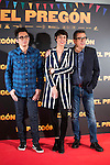 "Berto Romero, Belen Cuesta and Andreu Buenafuente during the presentation of the film ""El Pregón"" in Madrid, March 15, 2016<br /> (ALTERPHOTOS/BorjaB.Hojas)"