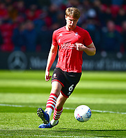 Lincoln City's Mark O'Hara during the pre-match warm-up<br /> <br /> Photographer Andrew Vaughan/CameraSport<br /> <br /> The EFL Sky Bet League Two - Lincoln City v Cheltenham Town - Saturday 13th April 2019 - Sincil Bank - Lincoln<br /> <br /> World Copyright © 2019 CameraSport. All rights reserved. 43 Linden Ave. Countesthorpe. Leicester. England. LE8 5PG - Tel: +44 (0) 116 277 4147 - admin@camerasport.com - www.camerasport.com