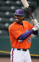 Outfielder Chris Epps (26) of the Clemson Tigers prior to a game against the South Carolina Gamecocks on Tuesday, March 8, 2011, at Fluor Field in Greenville, S.C.  Photo by Tom Priddy / Four Seam Images