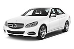 2015 Mercedes Benz Classe E E220 4 Door Sedan 2WD Angular Front stock photos of front three quarter view
