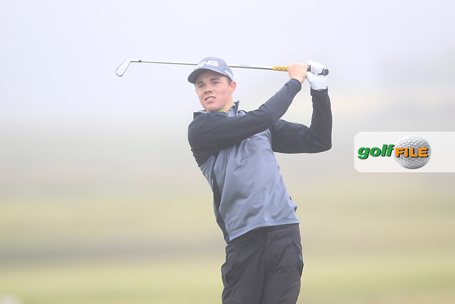 Stuart Grehan (Tullamore) on the 6th tee during Matchplay Semi Final of the South of Ireland Amateur Open Championship at LaHinch Golf Club on Sunday 26th July 2015.<br /> Picture:  Golffile | TJ Caffrey