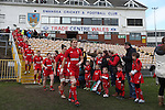 Wales captain Rachel Taylor leads the team out.<br /> 6 Nations Championship<br /> Wales v Ireland Women<br /> St Helens Swansea<br /> 15.03.15<br /> &copy;Steve Pope - SPORTINGWALES