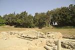Israel, Coastal Plain, ruins of the Byzantine Church in Ashkelon