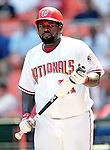 7 June 2007: Washington Nationals first baseman Dmitri Young warms up on-deck during a game against the Pittsburgh Pirates at RFK Stadium in Washington, DC. The Pirates defeated the Nationals 3-2 in the third game of their 3-game series...Mandatory Credit: Ed Wolfstein Photo