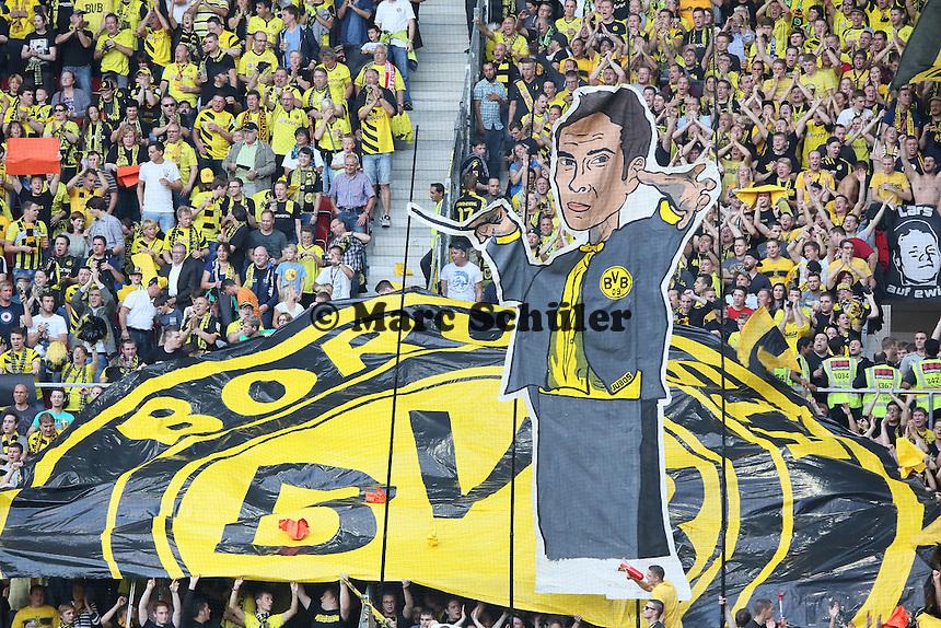Choreographie der Dortmunder Fans - 1. FSV Mainz 05 vs. Borussia Dortmund, Coface Arena